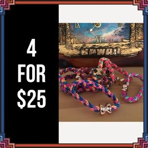 Accessories - 4 FOR $25 🎁🎄🍾🥂 9 Elastic Ribbon Hairbands